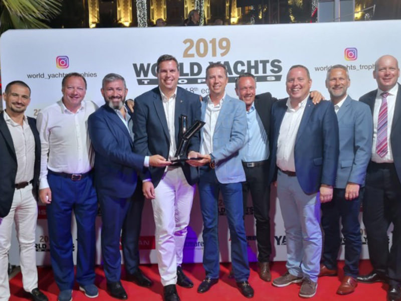 Hat-trick of World Yacht Trophies